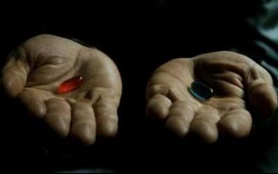 Schluckst du die blaue oder die rote Pille?